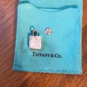 Authentic Tiffany & Co. Shopping Bag Silver Charm